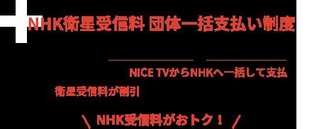 NHK衛星受信料 団体一括支払い制度